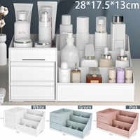 Desktop caixa de armazenamento cosméticos gaveta maquiagem organizador penteadeira cuidados com a pele rack casa recipiente do telefone móvel sundries caso