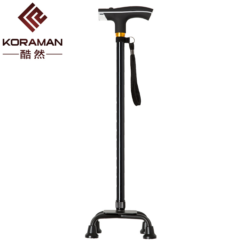 Profession Elderly Wand Large Four Corners Stable And Durable Aluminum Alloy Walking Stick Light Included Life Durable Manufactu