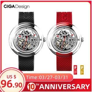 Watch Mechanical-Watch CIGA Transparent T-Series Female Hollow