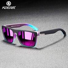 ¡Novedad de 2020! Gafas de sol polarizadas KDEAM con espejo para hombre, gafas de sol cuadradas con marco ultraligero, gafas de sol deportivas UV para hombre, gafas de viaje CE X8