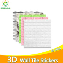 3D Wallpaper DIY Marble Sticker Waterproof Wall Stickers DIY Decor Self-Adhesive for Kids Room 3D Self-Adhesive Wallpaper Brick(China)