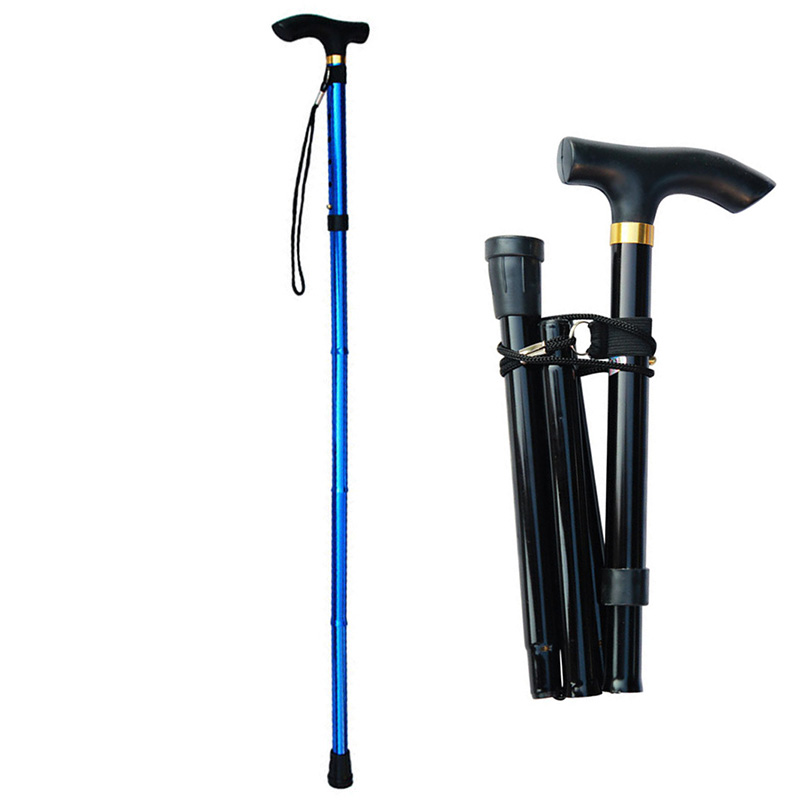 Telescopic Walking Stick For The Elderly Collapsible Old Men Women Walking Cane Folding Crutches For Mothers Fathers