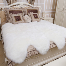 ROWNFUR white Room Bedroom Fluffy Large Area Rug Soft Artificial Sheepskin Carpet For Living Kids Anti-slip Floor Mats Home