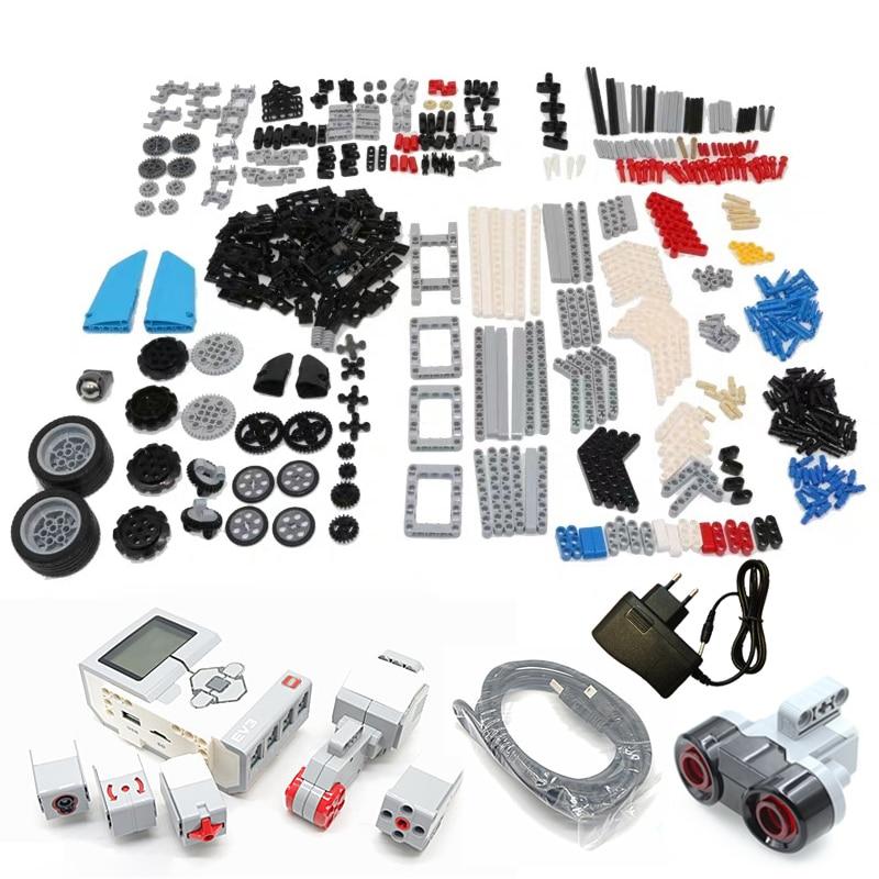 The EV3 Robots Building Blocks Model Education Set STEAM Compatible With Logoes 45544 EV5 EV6 Robotics Programming  Toys Parts