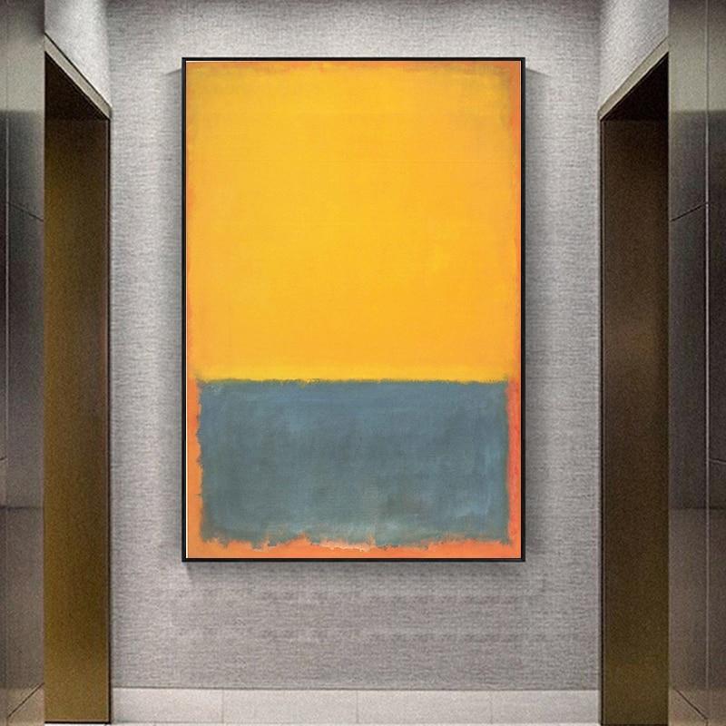 Mark rothko abstrato pintura a óleo da lona impressão sem moldura spray sem moldura holograma sala de estar decoração casa arte desenho|Pintura e Caligrafia|   -