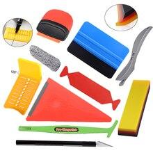FOSHIO Set di strumenti per lapplicazione dellinvolucro per Auto in vinile pellicola in fibra di carbonio installa magnete tergipavimento vecchia rimozione della colla colorazione automatica raschietto per rasoio