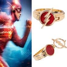 Cosvivo o anel flash temporada 5, joias de ouro com anel vermelho acessórios de presente de natal adereços de cosplay