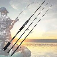 Nuevo 180cm Super fuerte de fibra de carbono caña de pescar 2 consejos H/MH de peso de 7-35g caña de lanzamiento giratoria señuelo para trucha de pesca