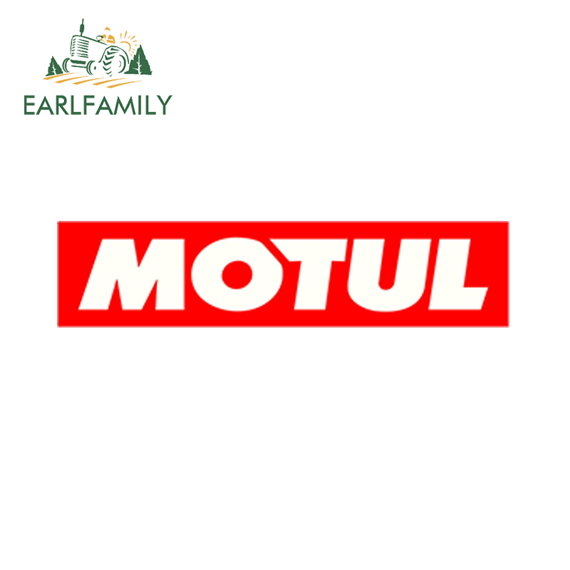 EARLFAMILY 15cm X 3.75cm Car Styling Car Sticker Motul Voiture Course Autocollants Auto Moto Vinyle Stickers Race Huile