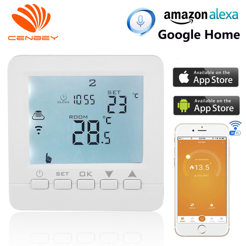 Wifi Thermostat Gas Boiler Underfloor Heating Thermostats Smart Heating Controller Central Heating Room Thermostat Alexa