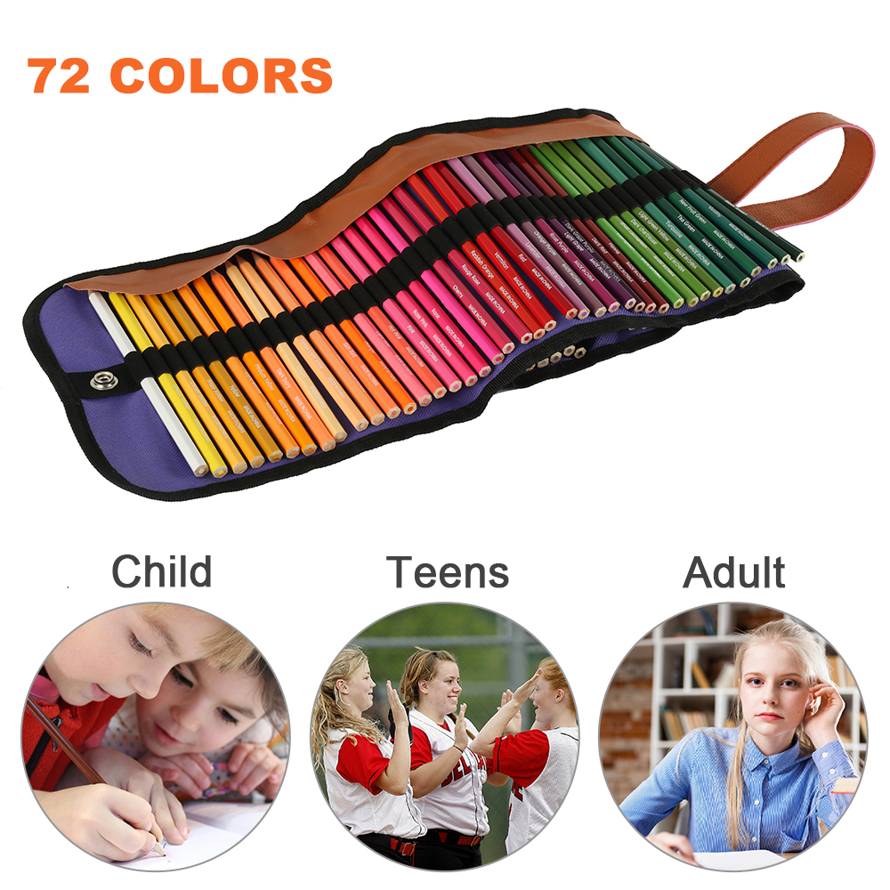 72 Colors Professional Wooden Oil Color Pencils Set Artist Painting Sketching Draw Pencil School For Noting Drawing Art Supplies