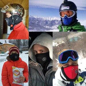 Image 2 - Motorcycle Half Face Mask Cover Fleece Unisex Ski Snow Moto Cycling Warm Winter Neck Guard Scarf Warm Protecting Maske