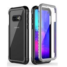 Przezroczysty pokrowiec na całe ciało do Samsung Galaxy S20 S10e odporny na wstrząsy futerał S8 S9 S10 Plus uwaga 9 10 wodoodporny zderzak Coque