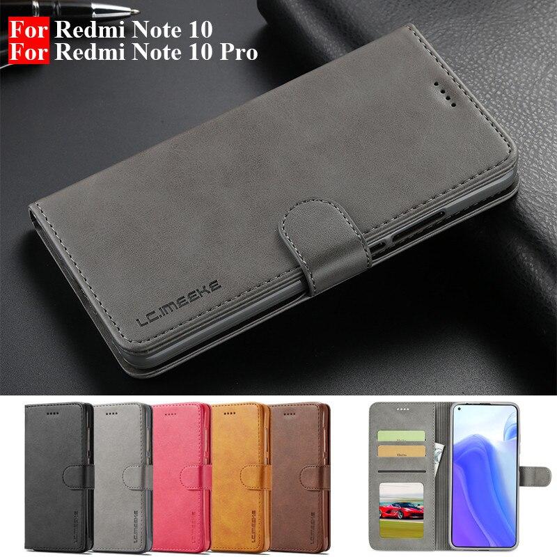 Чехол для Redmi Note 10 Pro, кожаный Винтажный чехол для телефона Xiaomi Redmi Note 10 Pro, чехол-книжка с бумажником для Redmi Note 10 Pro, чехол
