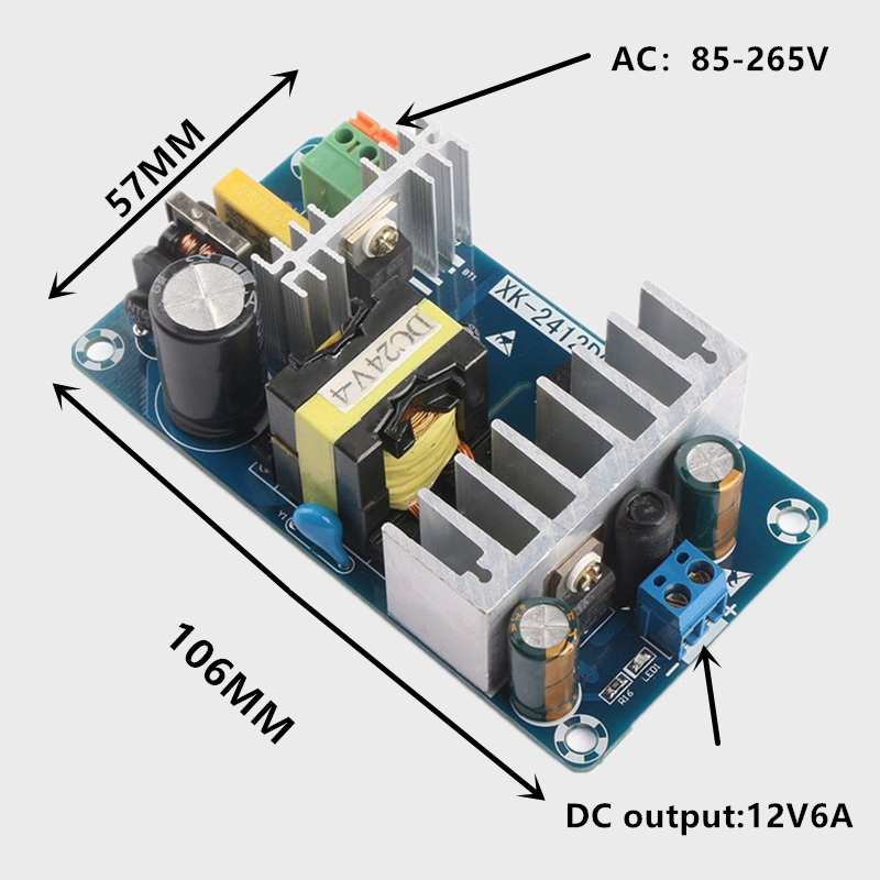 <font><b>AC</b></font> 85-265V to <font><b>DC</b></font> 12V 24V-6A 100W Switching Power Supply Board Power Supply Module image