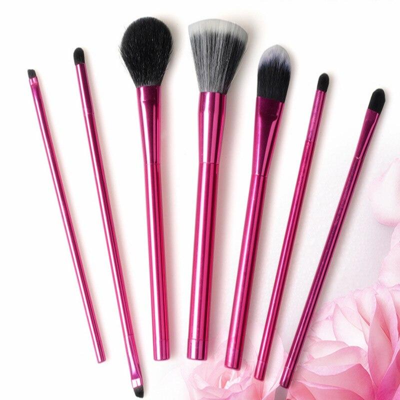 Новый стиль алюминиевая ручка 7 кисть набор кистей для макияжа инструмент для красоты портативный инструмент для макияжа настраиваемый нов...