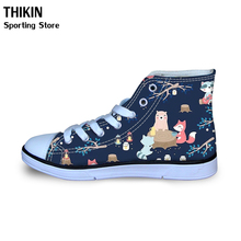 THIKIN Kids Spring Summer Sneakers Cute Woodland Animals Cartoon Pattern Girls B
