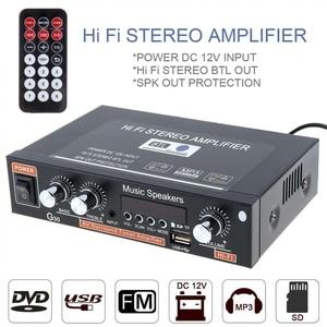 Image 3 - Đa Năng Khuếch Đại Âm Thanh Bluetooth Gia Đình Công Suất Âm Thanh Amplificador Xe HiFi Stereo Ampli Hỗ Trợ FM TF AUX MP3 Đài Phát Thanh