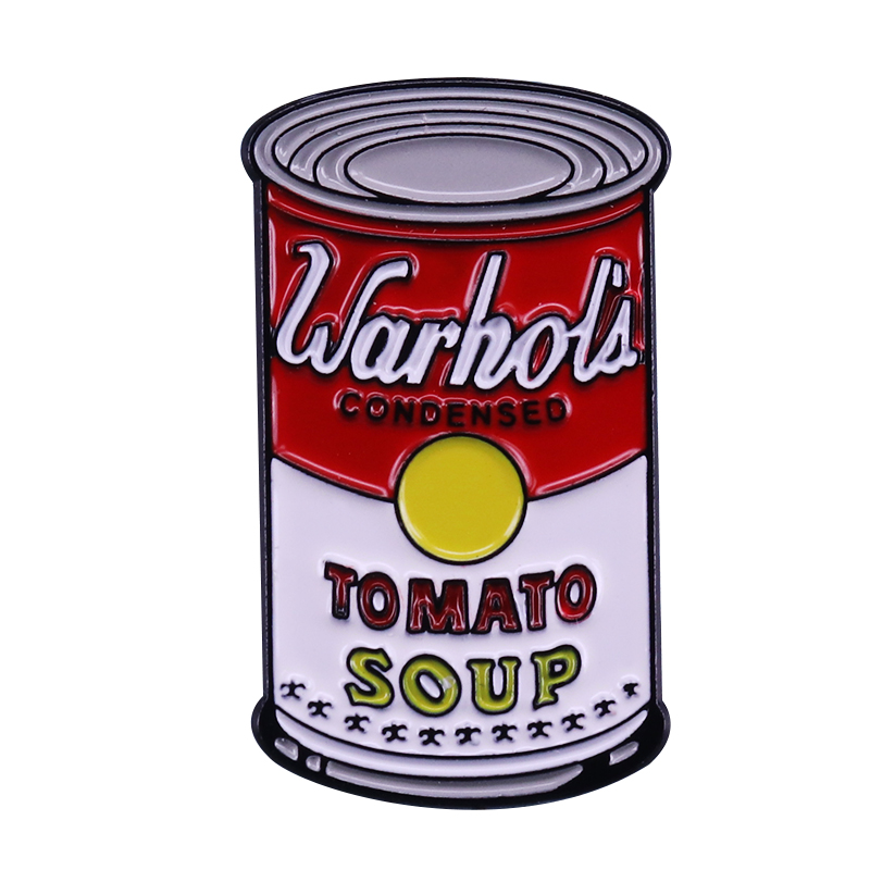 Warhol soup can brooch Art jewelry image