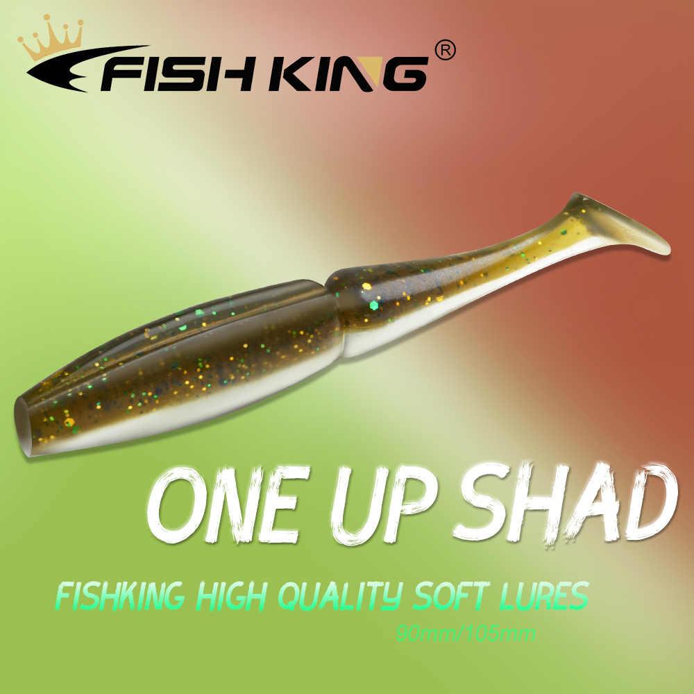 Cá Vua Mồi Câu Cá Mềm 90 Mm 105 Mm Mồi Mềm Dẻo Silicone Wobbler Bass Nhân Tạo Mồi Pike Câu Cá Mềm Dụ mồi Giả Câu Cá