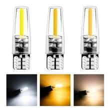 Automóvel t10 led luz indicadora cob tronco luz da placa de licença lâmpada leitura interior poupança energia lâmpadas acessórios do carro txtb1