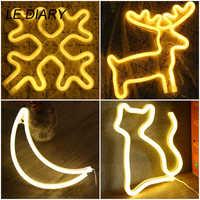 LEDIARY Animal Neno LED luz de noche gato niños dormitorio decoración lámpara de cabecera USB batería lámpara de mesa luces de noche de fiesta de navidad