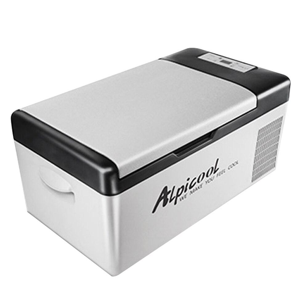 Congelar de refrigerador automotivo, portátil, dc 24v 12v, 15l, auto compressor, geladeira, refrigeração rápida, casa, piquenique, icebox