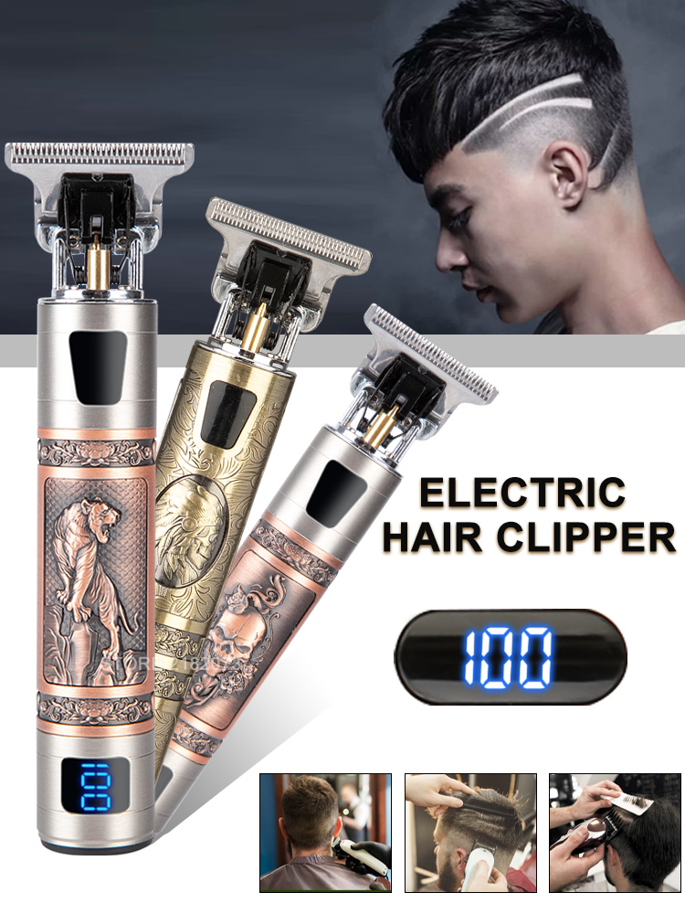 Beard Trimmer Hair-Cutting-Machine Cordless Shaver Barber 0mm for Men T9