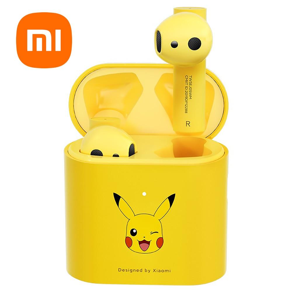 Original Xiaomi Pokémon Ash's Pikachu Mi True Wireless Earphones 2s Airdots Pro Air 2s TWS Bluetooth Headset Stereo Sport ANC