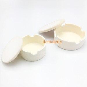 Image 1 - New Dental Lab CAD smeltkroes voor zirconia kronen gesinterde smeltkroes dental Smeltkroes met cover ronde vorm holding kralen in oven