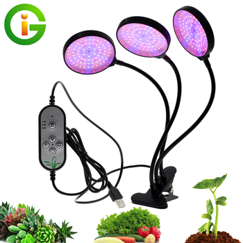 Светодиодный светильник для выращивания растений, 5 В, USB, источник питания, настольный, полный спектр, светильник для выращивания растений в...