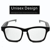 Smart Eye Brille Tragen Drahtlose Bluetooth Freisprechen Musik Audio Öffnen Ohr Anti blau Licht Linsen Intelligente sonnenbrille-in Handy-Ohrhörer und Kopfhörer Bluetooth aus Verbraucherelektronik bei