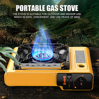 2.9KW Outdoor Cooker Small Gas Tank Gas Stove Camping Cooker Field Use Cassette Stove Multiple Functions Windproof Gas Stove