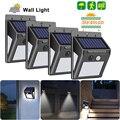 30/40 led lâmpada de energia solar pir sensor de movimento luz de parede solar à prova dwaterproof água emergência poupança energia jardim lâmpada segurança 1/2/4 pcs
