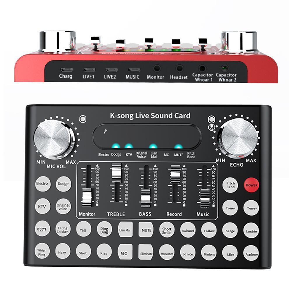 F9 Live Broadcast 18 Sound Effects Stereo Audio Card For Phone Laptop Computer