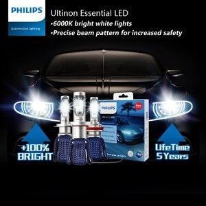 Image 2 - فيليبس Ultinon الأساسية LED H7 12 فولت 11972UEX2 6000K سيارة مشرق مصباح ليد للسيارات HL شعاع ThermalCool (التوأم حزمة)