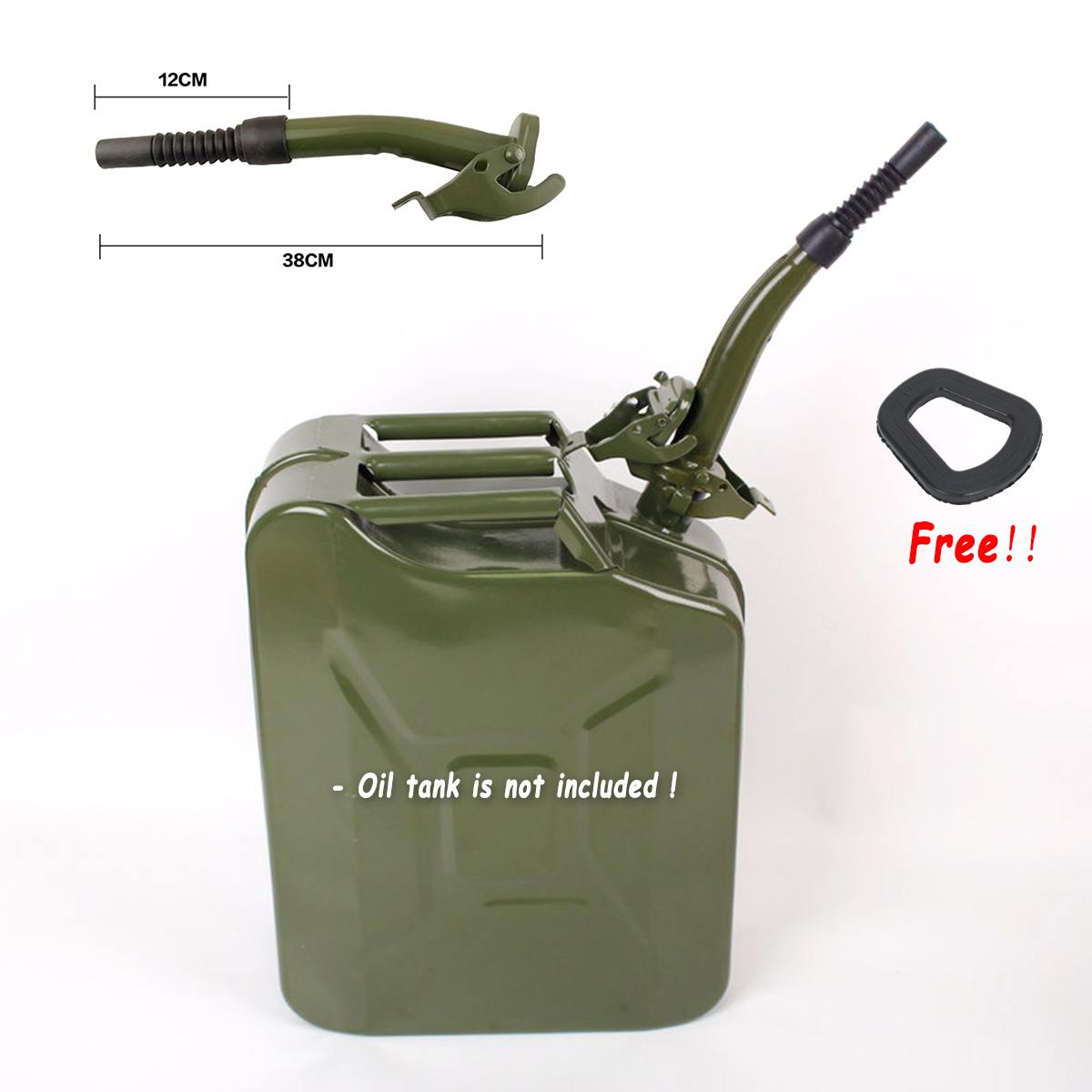 For 5/10/20 Litre Jerry Cans Metal Rubber Jerry Gerry Can Pouring Spout Flexible Nozzle Petrol Fuel Seal 38cm + Sealing Gasket