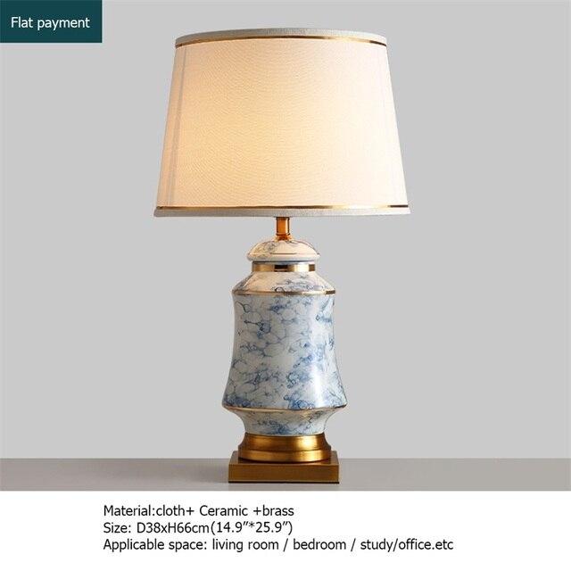 Купить керамические настольные лампы oufula синие латунные современные картинки цена