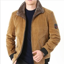 2021 Mens Winter Jackets Men Cotton Padded Thick Warm Loose Parka Coat Casual Corduroy Male Jacket Men's Brand Clothing