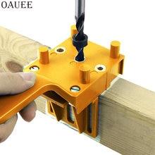 Outils à main pour le travail du bois, gabarit de chevilles en bois rapide, système ABS portable 6/8/10mm foret perforateur de trous pour Joints de chevilles de menuiserie