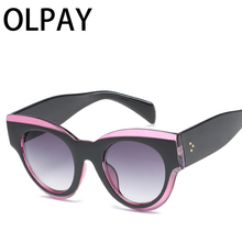 2019 New Square Sunglasses Women Brand Designer Big Frame Gradient Vintage Sun Glasses Luxury  uv400