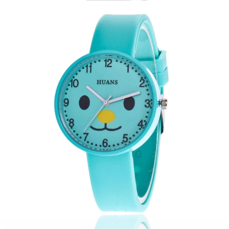 Hot Style Students Children Watch Cartoon Silicone Watch Digital Dot Scale Quartz Watch