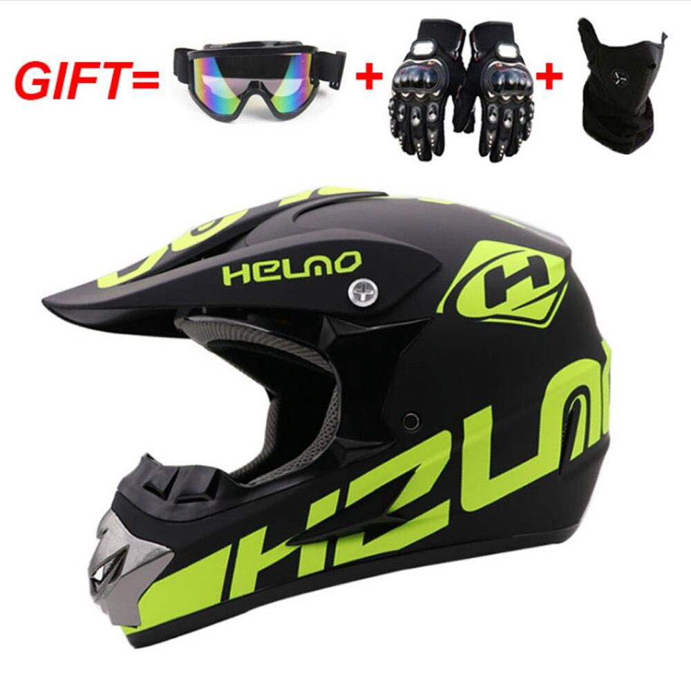 Шлем гоночный для мотокросса, профессиональный шлем для езды по бездорожью, мультяшный для детей, квадроциклов, горных велосипедов
