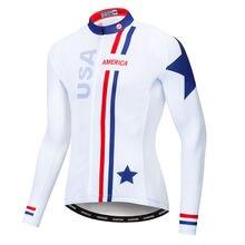 США майки для велоспорта мужчин с длинным рукавом велосипедные
