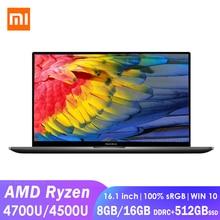 Xiaomi RedmiBook 16 Laptop 16.1inch AMD Ryzen 4500U/4700U 8G/16G DDR4 512GB SSD Windows 10 Ultrathin 100% sRGB Notebook