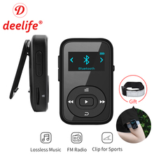 Deelife Sport Bluetooth MP3 Player Digital 8GB Clip Mini with Screen Recorder FM Radio Pedometer Support TF Card MP3 Music Play original ruizu x26 newest version clip bluetooth mp3 player 8gb sport mp3 music player with recorder fm radio support tf card