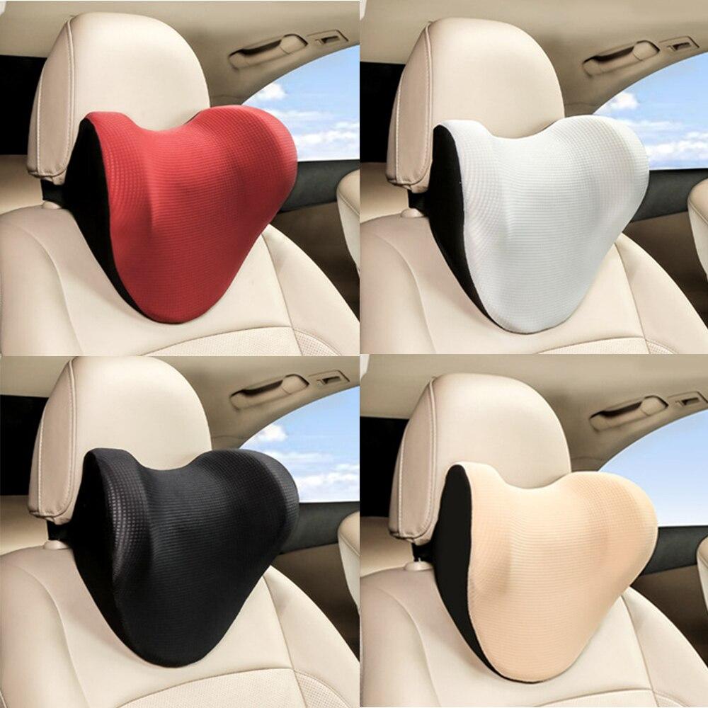 Universal Car Neck Pillow 1 PCS U Shape Car Seat Pillows Headrest Cushion Support Memory Foam Ice Silk Auto Accessories Interior