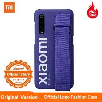 Xiaomi Mi 9 Caso Logo Ufficiale Antiurto PC Wristband Del Supporto Della Copertura Posteriore Per Xiaomi Mi9 Del Telefono Originale Custodia protettiva Funda 1