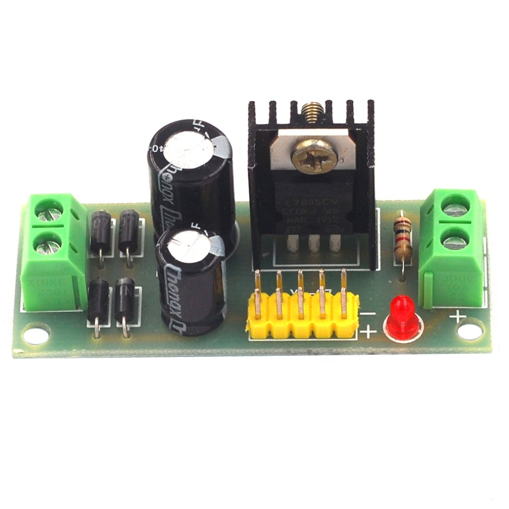 L7805 LM7805 Three-terminal Regulator Module 5V Regulated Power Supply Module 5V Voltage Regulator Module