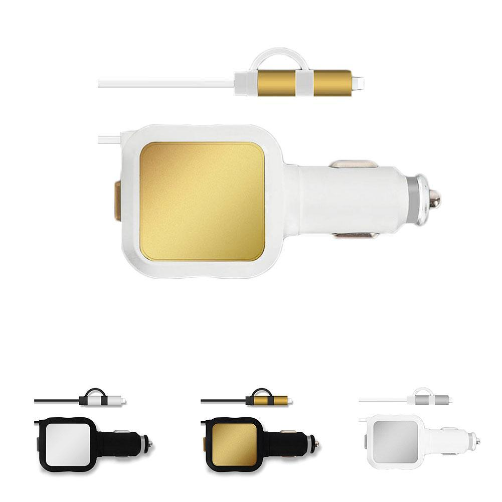 US $5.18 5% OFF|2 in 1 Micro USB Retractable Charger Cable Car Charging USB Power Adapter for IOS Android Mobile Phone|Car Chargers| AliExpress